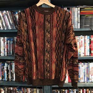 Vintage Men's Large stripe crew neck Sweater